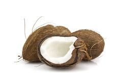 Coconuts On A White Background Royalty Free Stock Image