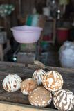 Coconuts ready to become flour Royalty Free Stock Photos