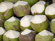 Coconuts for sale Royalty Free Stock Photos