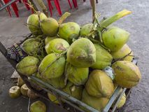 Coconuts for selling. Coconuts ifor selling n the street Stock Photography