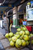Coconuts are sold on the street. Street trading Stock Photo