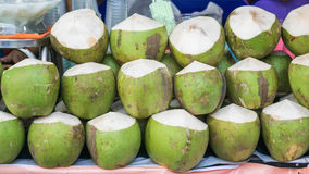 Coconuts on Street Food In Bangkok Market Stock Photography