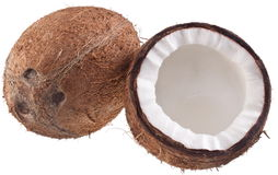 Coconuts on a white. High-quality photos of coconuts on a white background Stock Image
