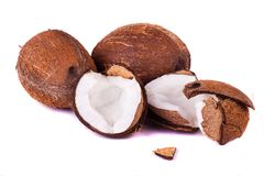 Coconuts on white Stock Photos