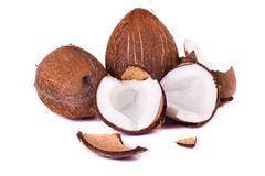 Coconuts on white Royalty Free Stock Images