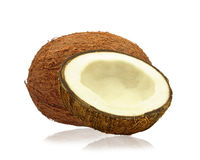 Coconuts. On a white background Stock Photography