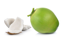 Coconuts on white background. Coconuts on a white background Royalty Free Stock Photos