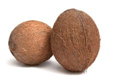 Coconuts on a white background. Coconuts  isolated on a white background Royalty Free Stock Photos