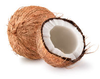 Coconuts  on a white background.  Royalty Free Stock Photo