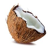 Coconuts  on white. Background Royalty Free Stock Photo