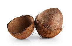 Coconuts on a white background. Royalty Free Stock Photos
