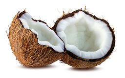 Coconuts  on white Stock Image