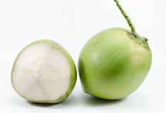 Coconuts on white background. The thai coconut on white background Royalty Free Stock Images