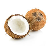 Coconuts  on white. Coconuts isolated on white background Stock Image