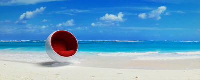 Cocoon design seat in paradise Royalty Free Stock Images