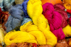 Cocoon silkworm ,color yellow and white Royalty Free Stock Image