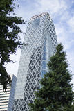 Cocoon tower Royalty Free Stock Image
