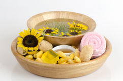Cocoons and honey soap. Royalty Free Stock Photography
