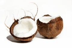 Cocos. Broken cocos on the two parts Stock Image