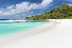 Cocos Anse, Ла Digue, Сейшельские островы Стоковые Изображения