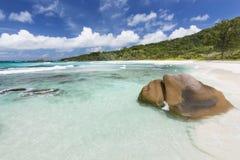 Cocos Anse, Ла Digue, Сейшельские островы Стоковая Фотография