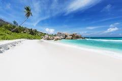 Cocos Anse, Ла Digue, Сейшельские островы Стоковое Изображение RF