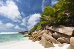 Cocos Anse, Ла Digue, Сейшельские островы Стоковое фото RF