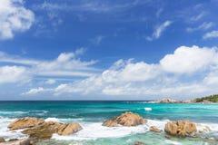 Cocos Anse, Ла Digue, Сейшельские островы Стоковое Изображение