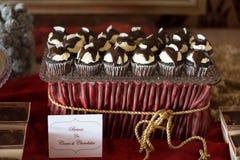Cocos de petits gâteaux de chocolat de Candybar Images stock