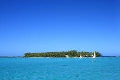 Cocos del DES Deux di Ile, Mauritius Fotografie Stock Libere da Diritti