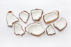 Cocos isolados no fundo branco Imagem de Stock Royalty Free