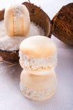 Cocos macaron Stock Afbeeldingen