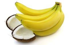 Cocos met banaan Royalty-vrije Stock Afbeelding