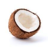 Cocos op een wit Stock Foto's