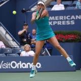 Cocos profesionales Vandeweghe del jugador de tenis de Estados Unidos en la acción durante su US Open 2017 4 redondos Fotografía de archivo
