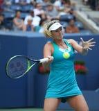Cocos profesionales Vandeweghe del jugador de tenis de Estados Unidos en la acción durante su US Open 2017 4 redondos Fotos de archivo