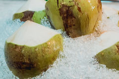 Cocos verdes frescos e doces Fotografia de Stock Royalty Free