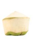 Cocos verdes no fundo branco Fotografia de Stock