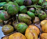 Cocos verdes y amarillos Fotografía de archivo