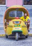 Cocotaxi in Havana street Royalty Free Stock Photos