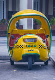 Cocotaxi in Havana street Royalty Free Stock Photo