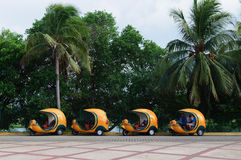 Cocotaxis para turistas Foto de Stock Royalty Free