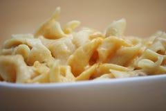 Cocotte en terre de fromage de nouille Photos libres de droits