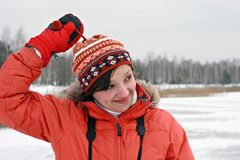 Cocotte. Winter portrait woman Stock Images