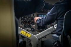 Cocpit di piccolo aereo Fotografia Stock