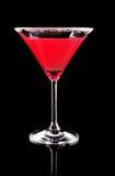 coctail玻璃马蒂尼鸡尾酒红色 免版税库存图片