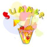 coctail καλοκαίρι απεικόνιση αποθεμάτων