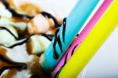Coctail στενό επάνω τοπ άποψης marshmellow και σοκολάτας που απομονώνεται με Φωτογραφία για τις επιλογές στοκ φωτογραφίες με δικαίωμα ελεύθερης χρήσης