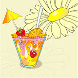 Coctail. Universal template for greeting card, web page, background royalty free illustration