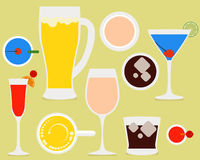 1 coctail vektor illustrationer